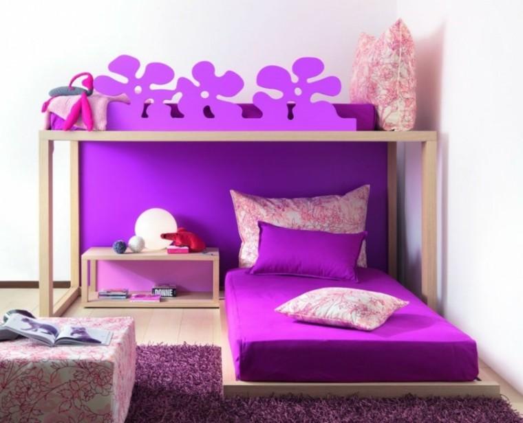 estupendo cuarto color violeta