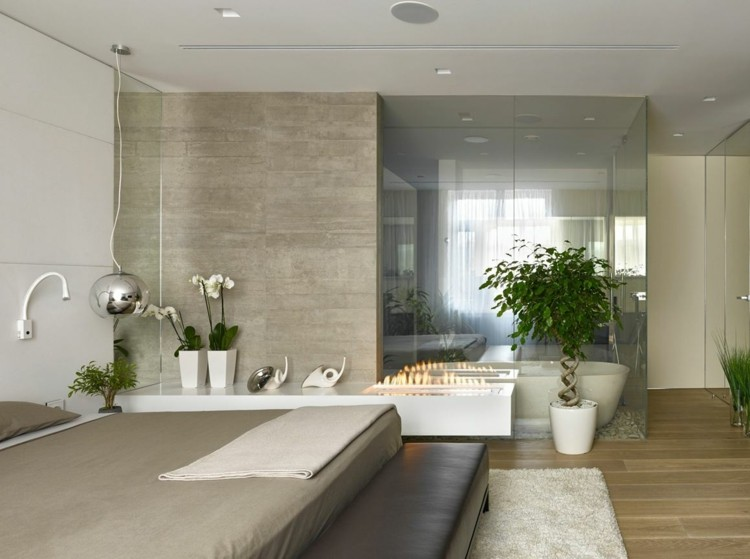 estupendo diseño dormitorio cuarto baño