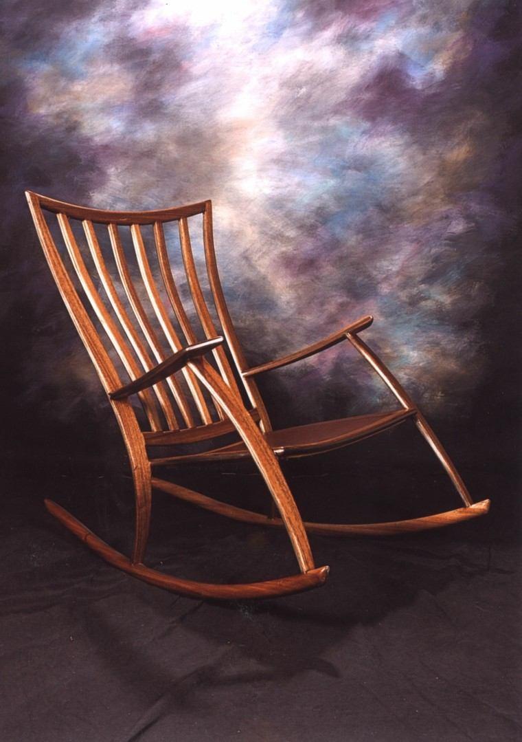 estupendo diseño mecedora madera moderna