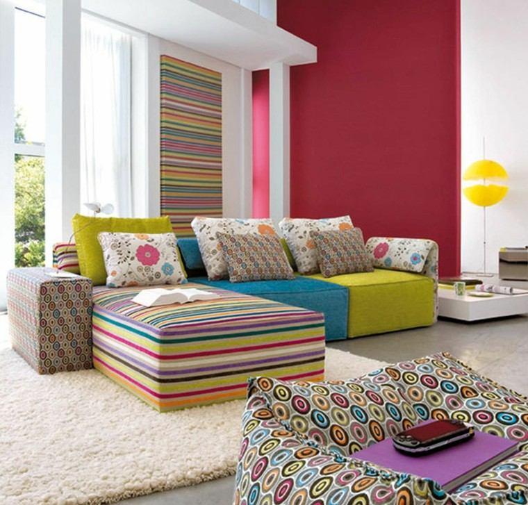 estupendo diseño salon muebles colores