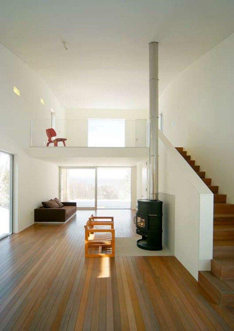 estupendo diseño pasillo escalera minimalista