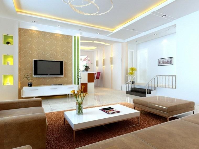 estupendo diseño salas de estar modernas