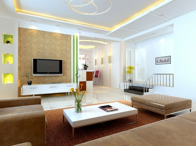 Sala de estar moderna de estilo minimalista 100 ideas for Disenos de salas modernas