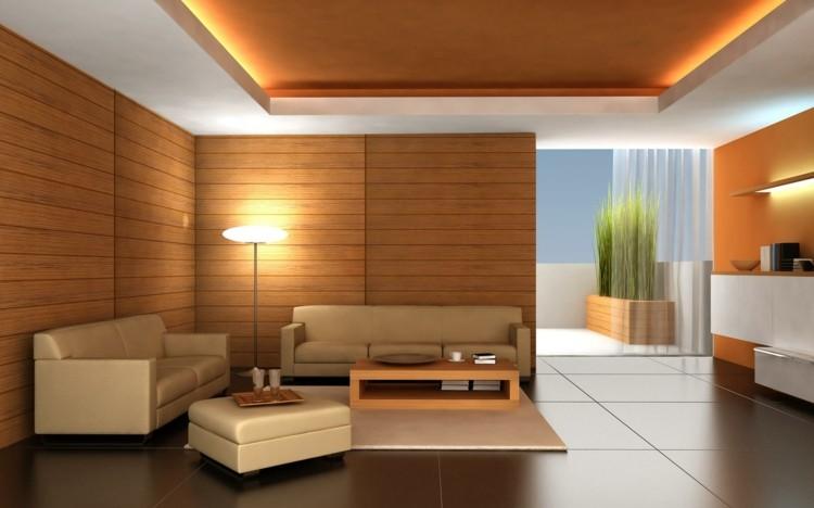 estupendo diseño salon madera
