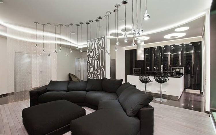 estupendo diseño techos modernos luces