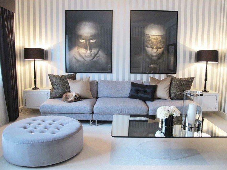estupendo diseño salones modernos gris