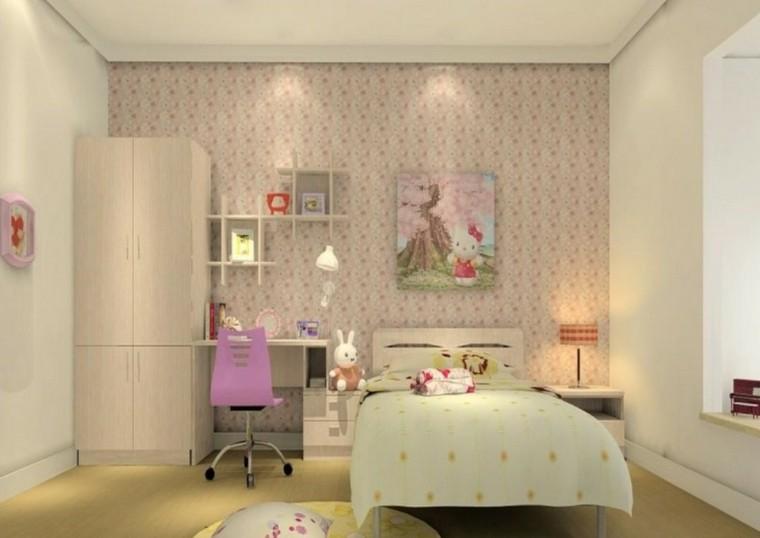 estupendo dormitorio niña color beige