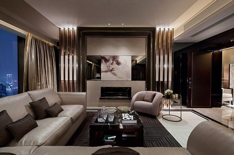 estupendo diseño salon sofa beige