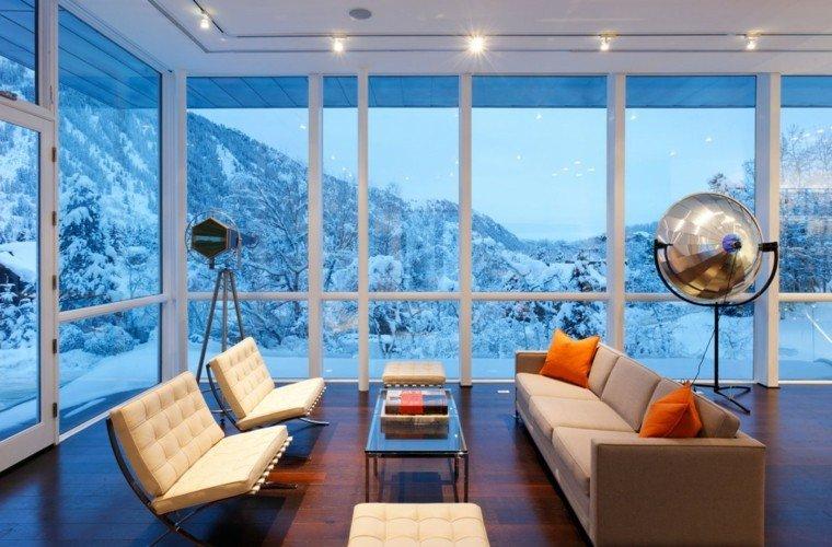 exito diseno salon moderno muebles blancos lampara preciosa ideas