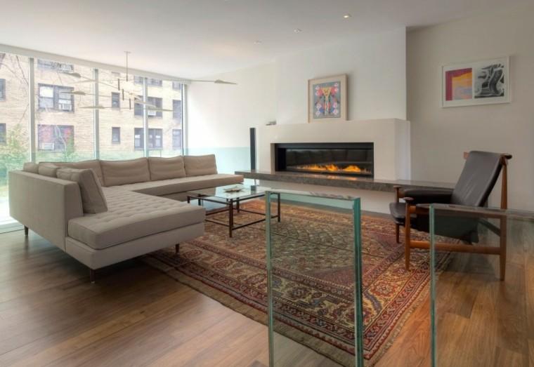 exito diseno salon moderno sofa chimenea moderna ideas