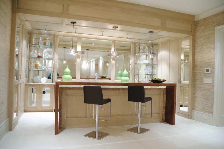 Barras de cocina de dise o moderno 50 ideas - Luces de cocina ...