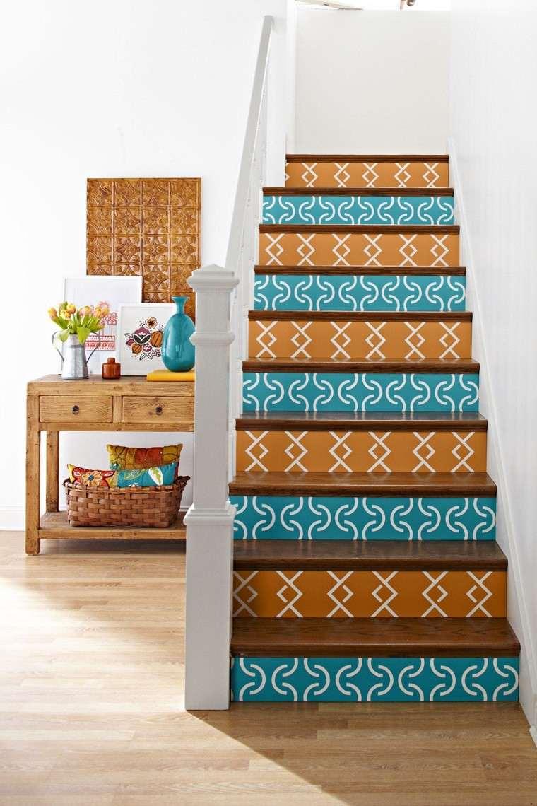 fabuloso diseño decorar escaleras azulejos