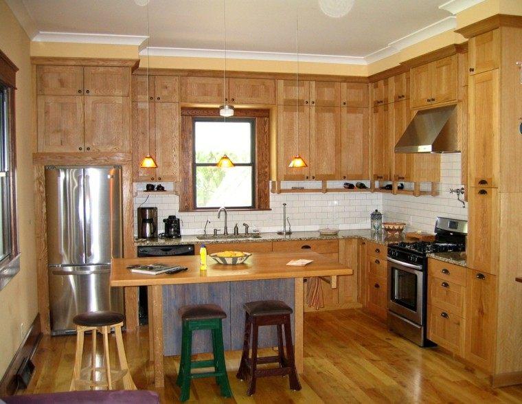 familiar madera rustico cabinates taburetes