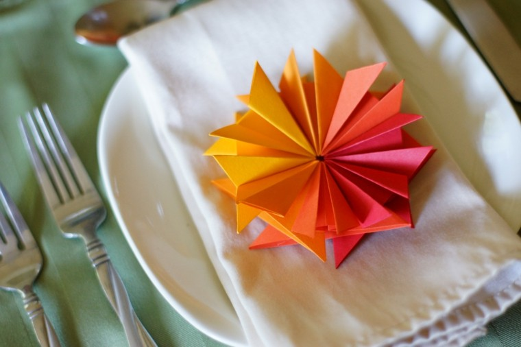 flor papel decoracion otoño