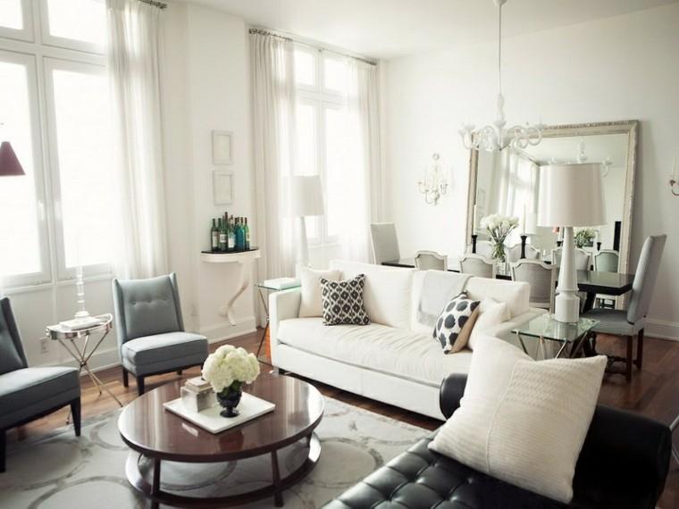 flores blancas mesa cortinas natural