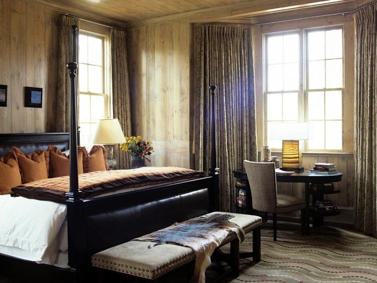 flores colores otono dormitorio moderno cama dosel ideas