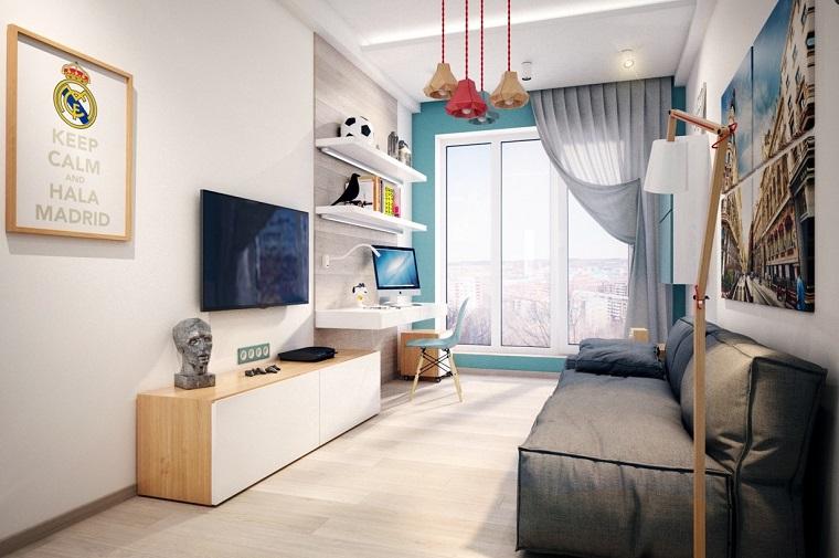 Fotos habitaciones juveniles para chicos y chicas modernos for Dormitorios juveniles con cama grande