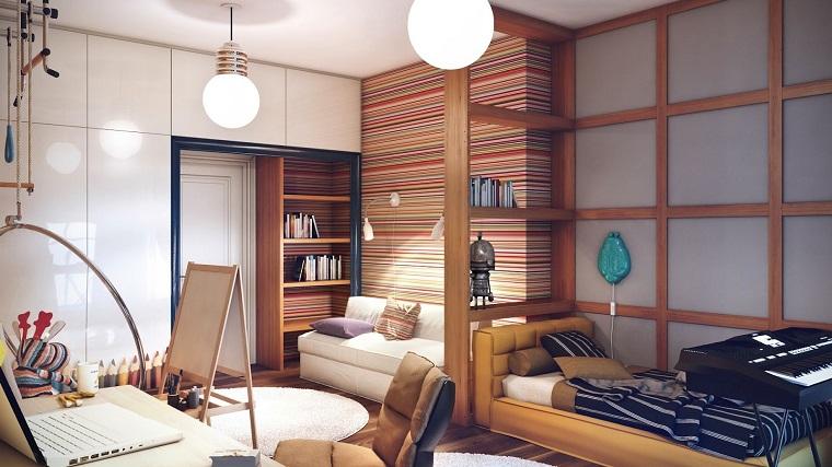fotos habitaciones juveniles cama sofa ideas