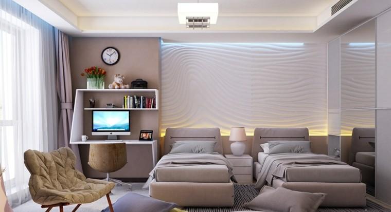 Fotos habitaciones juveniles para chicos y chicas modernos for Habitacion juvenil dos camas