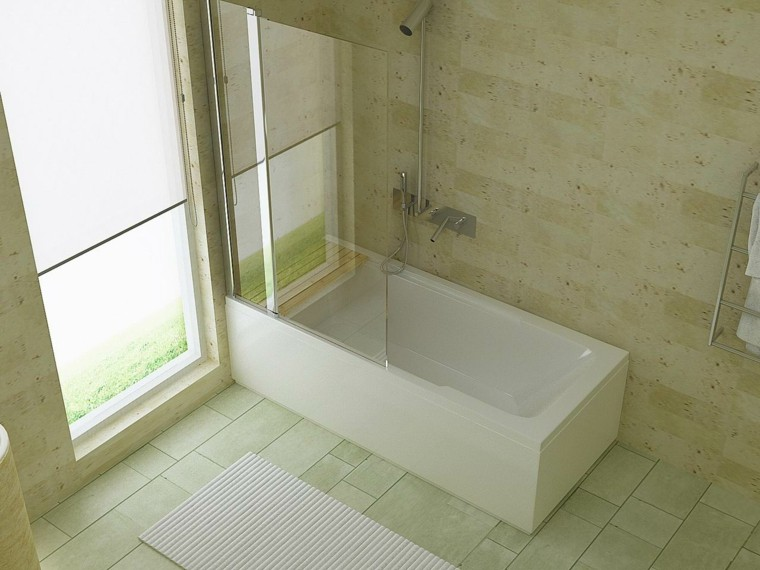 fresco ventilado baño jardines minimalista