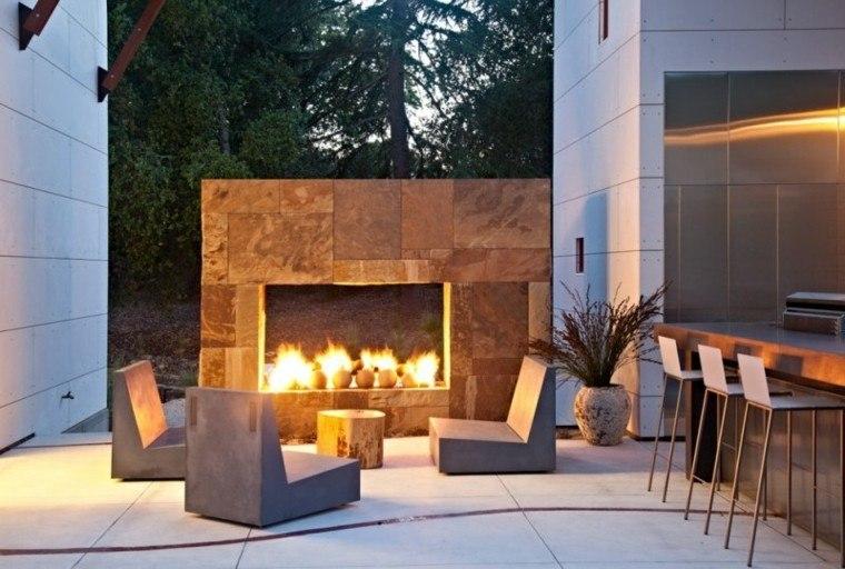 fuego asientos acogedor madera fuego