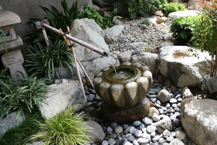 Jard n japon s ideas para crear un espacio tranquilo en casa - Jardines con fuentes de agua ...