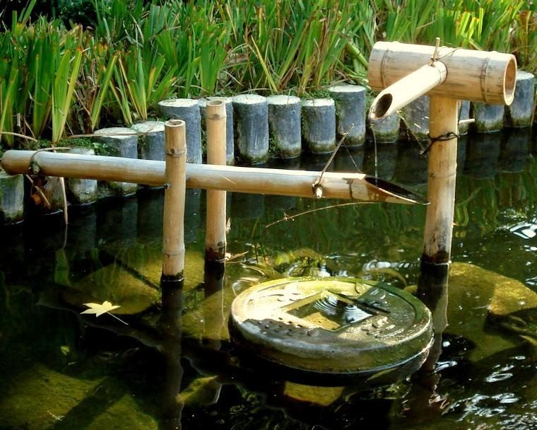 fuente cañas bambu valla empalizadaa