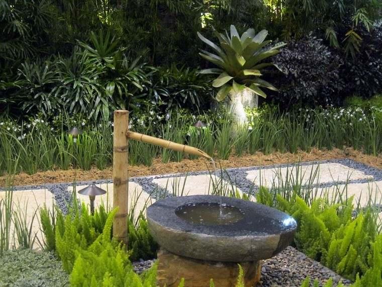fuente piedra diseo jardines zen