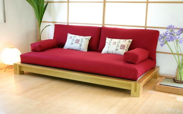 futon color rojo estilo japones