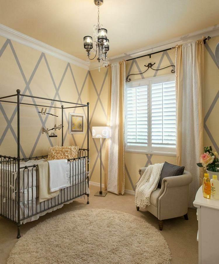 geometrico amarillo metal forja cama