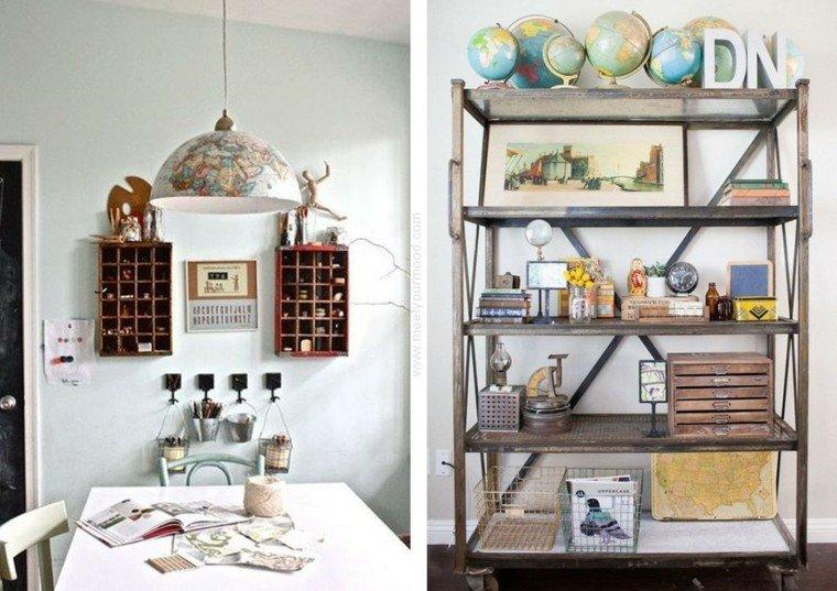Globos y mapas para decorar la casa con estilo - Lampara estanteria ...