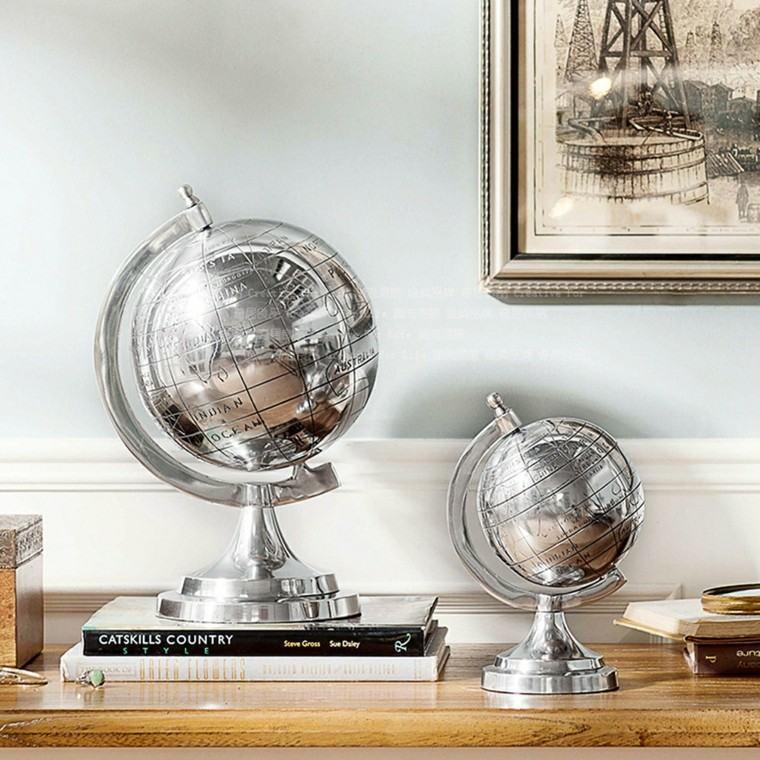 globos sofisticado plata decorando oficina casa ideas