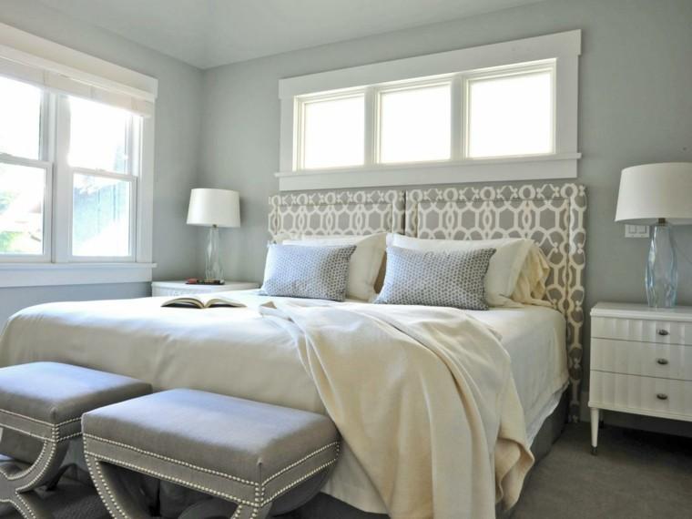 gris interesante sillones lampara cama