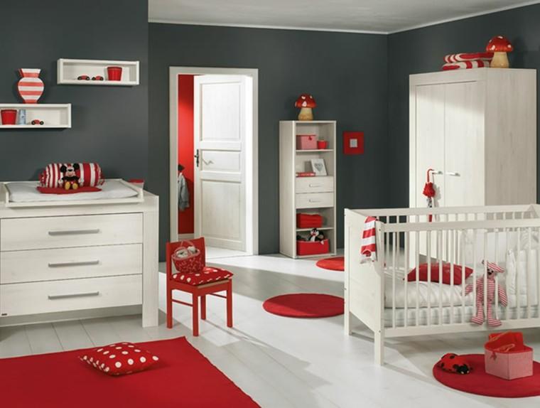 gris rojo creativo cuarto alfombras