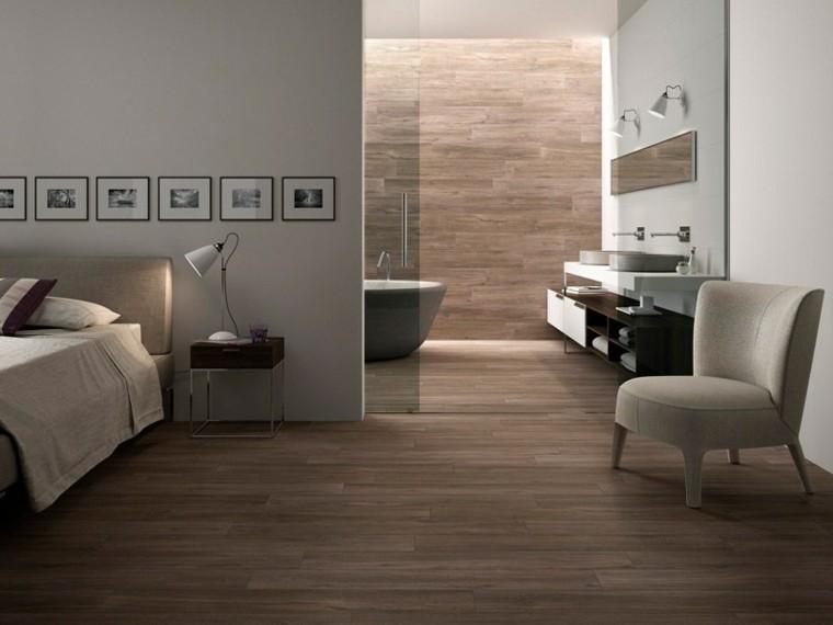 Diseno De Baños Alargados:Azulejos diseño madera, un toque natural para tu baño