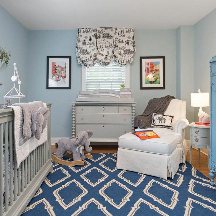 habitacion bebe alfombra preciosa acento color ideas