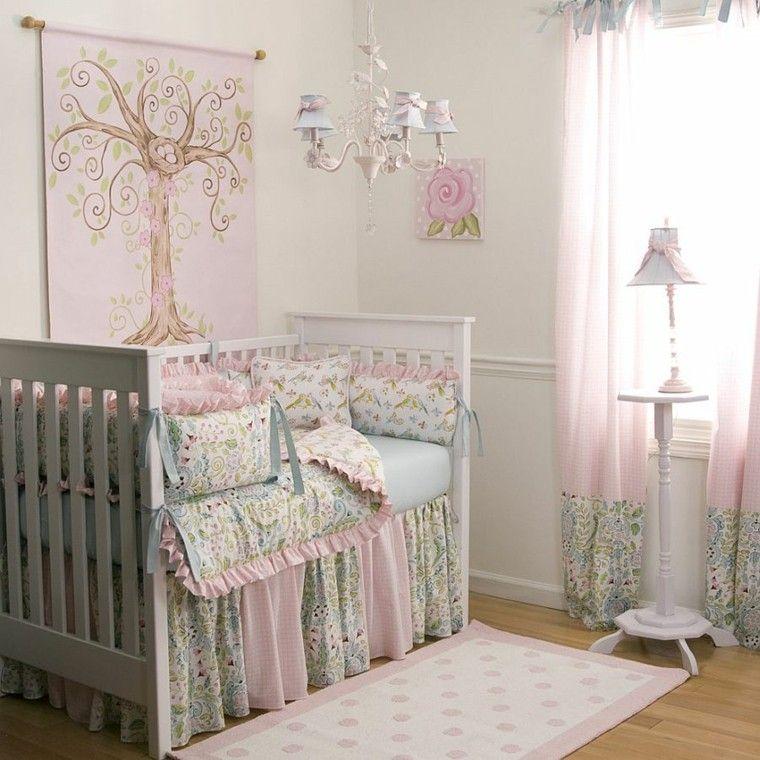 habitacion bebe elegante preciosa ropa cama cortinas ideas