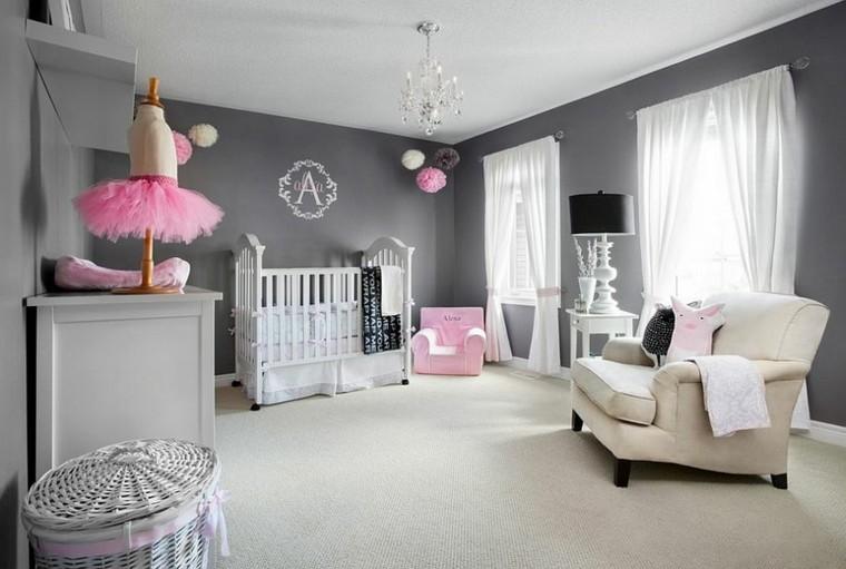 habitacion bebe precioso sillon grande blanco pequeno rosa ideas