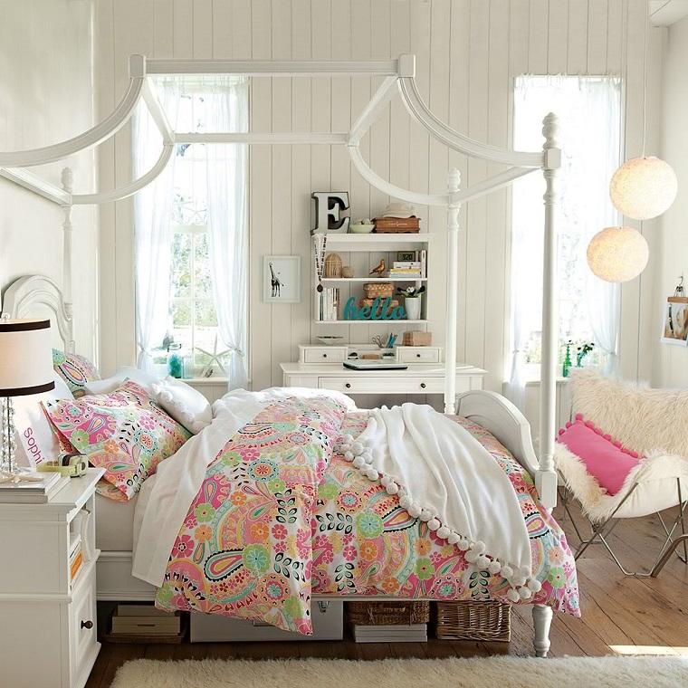 habitacion chica cama grande ventanas ropa cama preciosa ideas