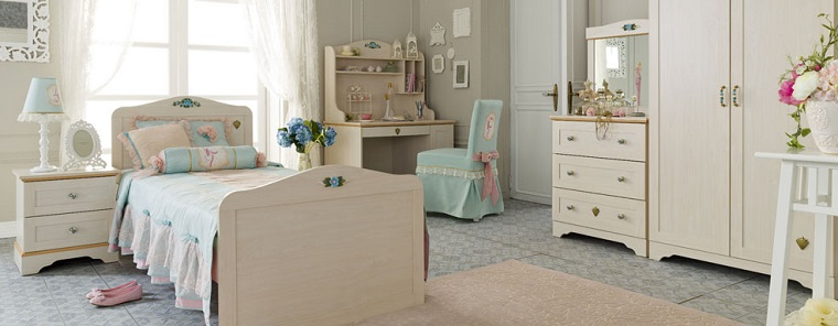 habitacion chica cama madera escritorio silla preciosa ideas