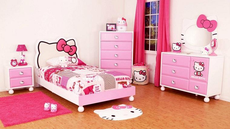 habitacion chica cama preciosa colores rosa ideas