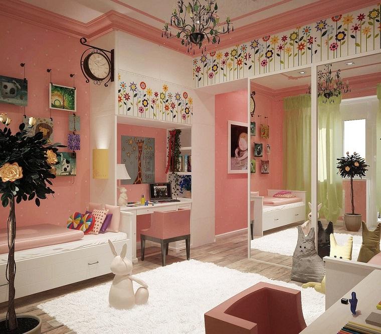 habitacion chica decoraciones armario puertas espejo ideas
