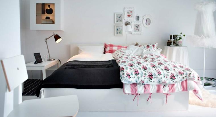 habitacion color blanco colores alegre rosa