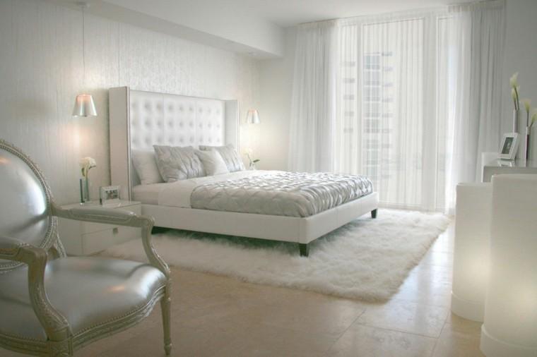 habitacion color blanco elegante clasica cuadros