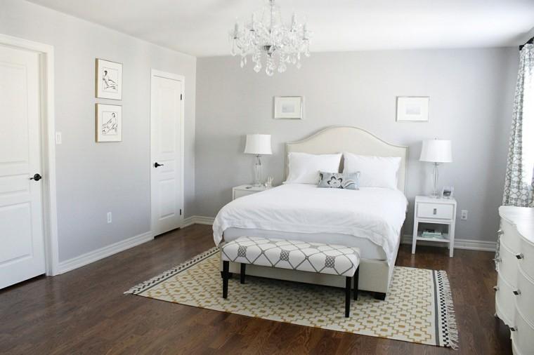 habitacion color blanco suelo araña alfombra