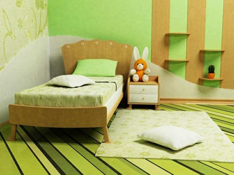 habitación juvenil niña cama madera ideas