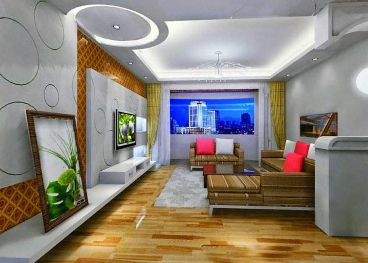Techos modernos con luces led integradas 50 ideas for Pop design for roof of living room