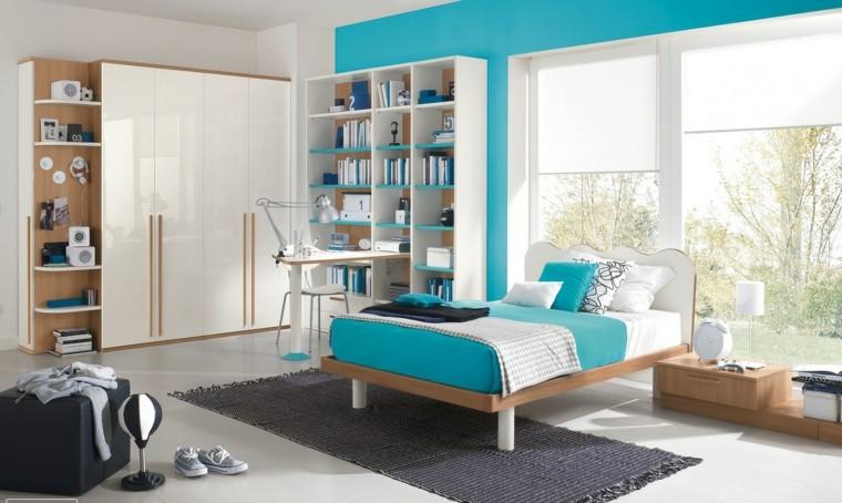 habitaciones nino amplia luminosa azul claro ideas