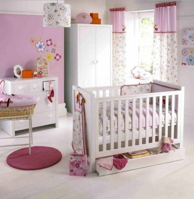 habitaciones para bebes alfombra calida rosa
