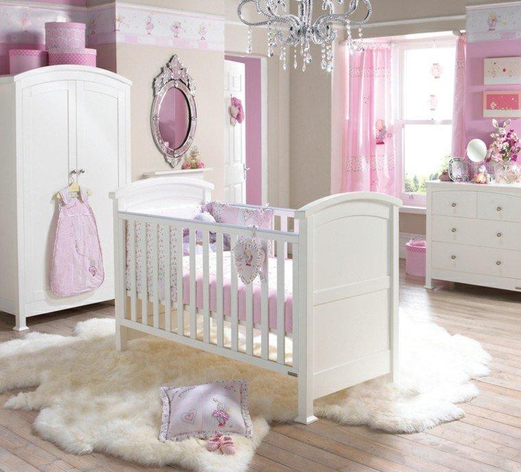 habitaciones para bebes princesa tema blanco